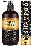 Argan Deluxe Shampoo in Friseur-Qualität 300 ml - stark pflegend mit Arganöl für Geschmeidigkeit & Glanz - für Damen und Herren