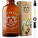 BIONOBLE BIO JOJOBAÖL 100% Rein, Natürlich, Kaltgepresst, Vegan   Pumpe & Recycelbar Glasflasche   Jojoba Öl für Haut, Gesicht, Haare, Körper   Anti-Akne   Organic Jojoba Oil (250ml)