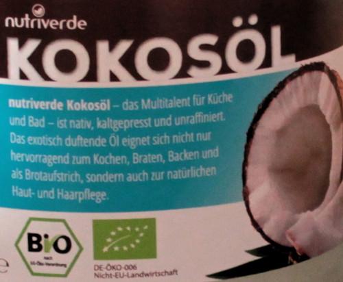 Kokosöl - nativ, kaltgepresst und unraffiniert