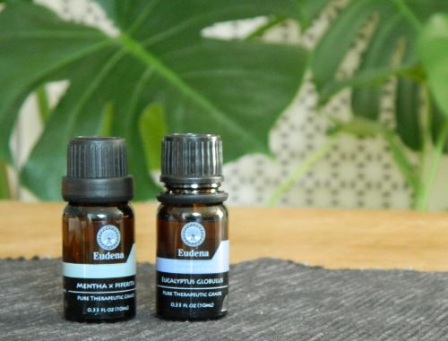 Hausmittel bei Erkältung: Eukalyptusöl und Pfefferminzöl