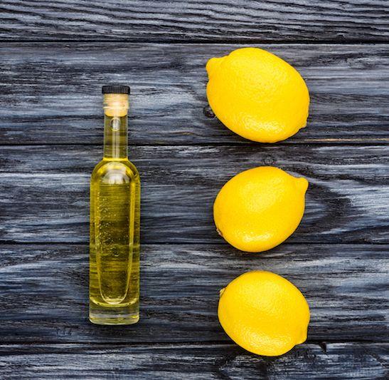 selbstgemachtes haaröl mit arganöl zitrone