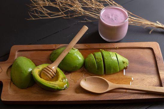 Avocado Honig Haarmaske gegen